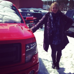 Well, then this happened. A new Ford pickup. First time for everything. Maximilian named our truck, McQueen.
